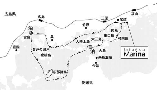 大三島沖錨泊3日間 コース